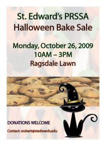 PRSSA Bake Sale - Monday, October 26th 2009